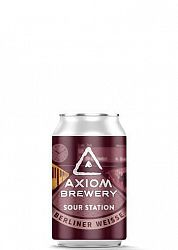 Axiom Brewery Pivo Sour Station 10 ° P, Berliner Weissa s malinou 330 ml